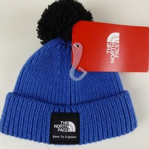The North Face Pom Pom Knit Box Beanie Hat NWT